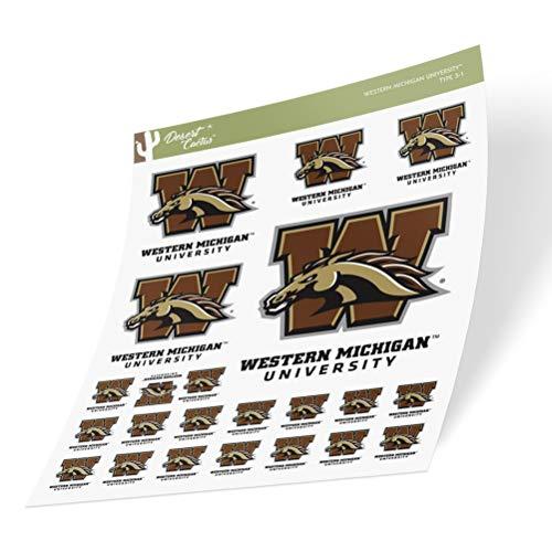 Western Michigan University WMU Broncos Sticker Vinyl Decal Laptop Water Bottle Car Scrapbook (Sheet Type 3)