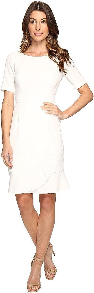 Adrianna Papell Women's Work Dress with Flounce Wrap Skirt