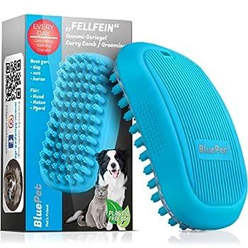 Bluepet® Brosse à poils longs pour chien en poils de fourrure pour le lavage avec picots de massage