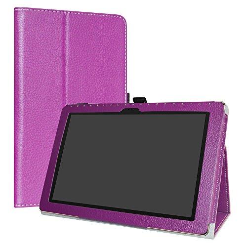ASUS ZenPad 10 Case,LiuShan PU Leather Slim Folding Stand Cover for ASUS ZenPad Z300C / Z300M / Z301M / Z301ML / Z301MFL 10.1-Inch Android Tablet,Purple