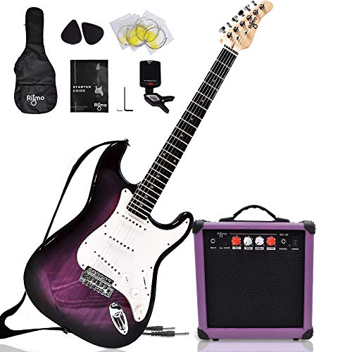 Complete 39 Inch Guitar and Amp Bundle Kit for...
