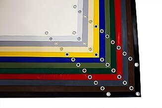 (610g/m²) Vrachtwagenzeil, PVC-zeil met 12mm ogen, industrieel zeil, zeildoek, afdekzeil, zonder zoom (3m x 4m, beige RAL1...