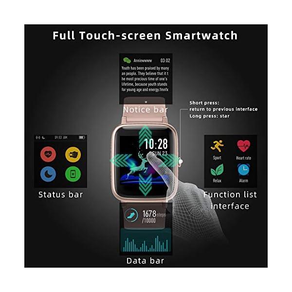 LIFEBEE Smartwatch, Reloj Inteligente Impermeable IP68 para Hombre Mujer