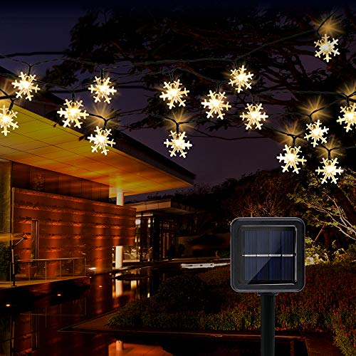 YODI 1800Mah Solar String Lights - 36Ft/11M 60led Outdoor Garden Fairy Light-8 Modes&IP 65 Waterproof Decrotion Garden Lights Solar Powered for Patio, Yard Decoration