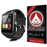 Ace Armor Shield Shatter Resistant Screen Protector for the U8 Wearable Smartwatch / Military Grade / High Definition / Maximum Screen Coverage / Supreme Touch Sensitivity /Dry or Wet Easy Installation with free lifetime replacement warranty
