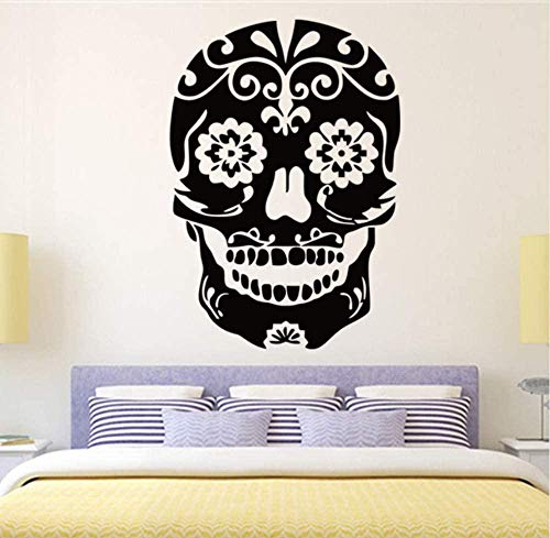 Wall Stickers Decal Skull Office Stickers Wall Decal Mural Wall Decal 58X83Cm