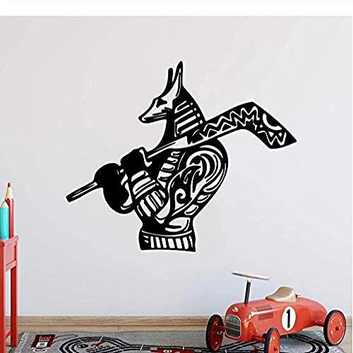 Wandaufkleber und Wandbilder Cartoon Eishockey Hund Wandaufkleber Kinderzimmer Schlafzimmer Sport Hockey Tier Wandtattoo Wohnzimmer Vinyl Wohnkultur 56 * 45com