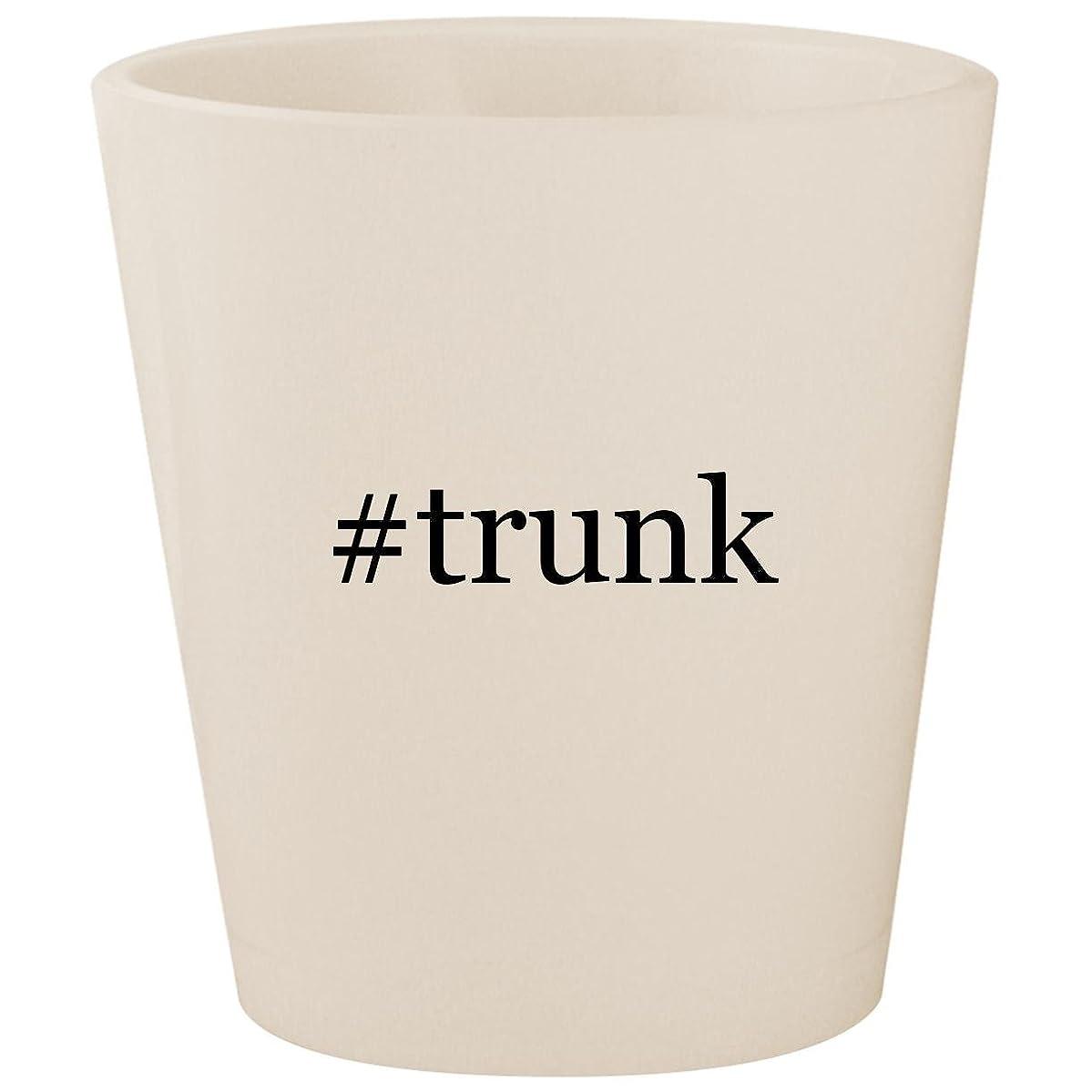 #trunk - White Hashtag Ceramic 1.5oz Shot Glass