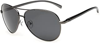 J+S Premium Ultra Sleek, Military Style, Sports Aviator Sunglasses, Polarized, 100% UV Protection (Large Frame)