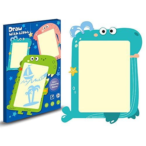 LK-HOME Schreibtafel,Verschleißfeste Tierförmige Graffiti-tafel,Multifunktionale 2-in-1-leuchtstofftafel Für Kinder-Und Erwachsenenunterhaltung,Frühkindliche Erziehung,Blau