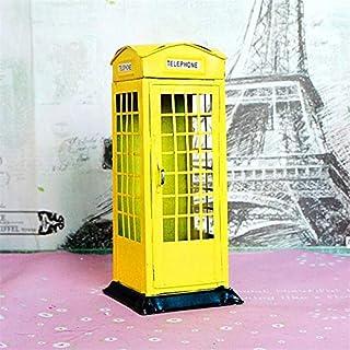 Zenghh イギリス産業年齢キオスクNo.1財布銀行、ヴィンテージ象徴的な街路道路建築ロゴ政府政府のポスト電話ボックス電話キオスク公共電話ブースデポジー種 (Color : Yellow)