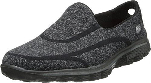 Skechers Performance Women's Go Walk 2 Super Sock Slip-On Walking Shoe,Old Black,8.5 M US