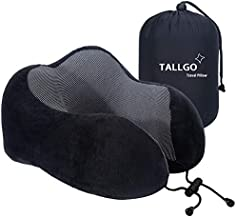 Travel Pillow, Best Memory Foam Neck Pillow Head Support Soft Pillow for Sleeping Rest, Airplane Car & Home Use (Black)