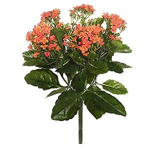Vickerman FL170102 Kalanchoe Bush Artificial-Flowers, 17.25″, Orange