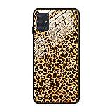 FundX Hülle für Samsung Galaxy A51 - Leopardenmuster Leopard Muster Damen