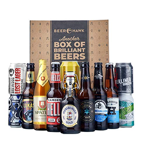 Beer Hawk World Lager Discovery Mixed Case, 12 beers - Perfect Summer BBQ Beer Pack