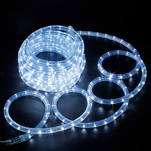 Kefflum LED Lichtschlauch,led schlauch, Lichterkette Licht Leiste 36LEDs/M Schlauch für Innen und Außen IP65 12M Kaltweiß