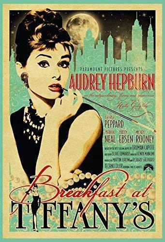 Audrey Hepburn Breakfast at Tiffanys Tiffany's Blechschild Metallschild Schild gewölbt Metal Tin Sign 20 x 30 cm