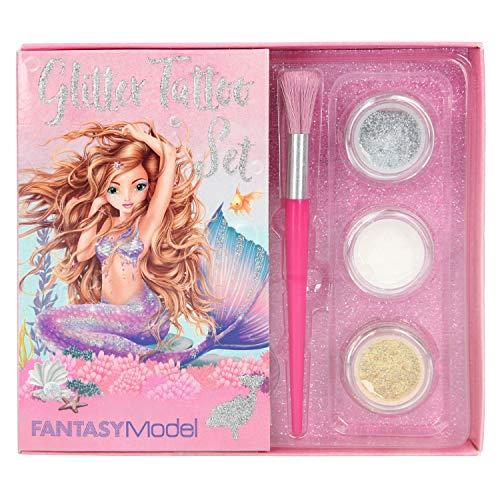 Top Model Set Tatuajes de Brillo, Fantasy Model Mermaid (001