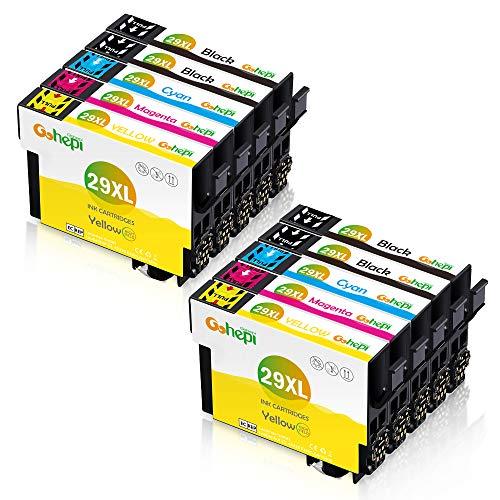 Gohepi 10 Multipack 29 XL Alta Capacidad Cartuchos de tinta, Compatible para...