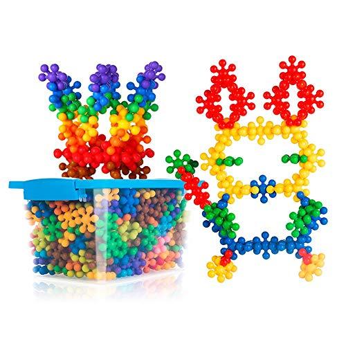 Xyanzi ertongwanju 250 PCS Blocs de construction enfants jouets éducatifs jouets disques de construction ensembles en plastique solide imbriqué pour enfants d'âge préscolaire garçons et filles, un mat