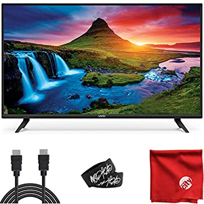 VIZIO D-Series 40-Inch 1080p Full HD LED Smart TV (D40F-G9) with Built-in HDMI, USB, SmartCast, Voice Control Bundle with Circuit City 6-Feet Ultra High Definition 4K HDMI Cable and Accessories from Vizio