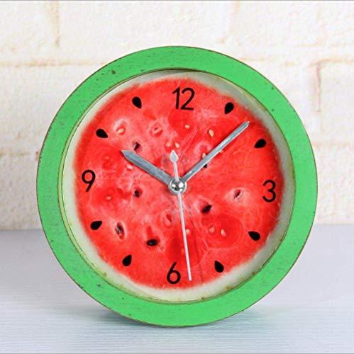 Klok Creatieve Bedkant Shabby ouderwetse oude landelijke land fruit watermeloen hout kleine Leuke Alarm