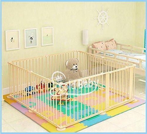 Star Ibaby EK-XCCO-F0H1 - Parque de bebés XXL 8 piezas, color Natural