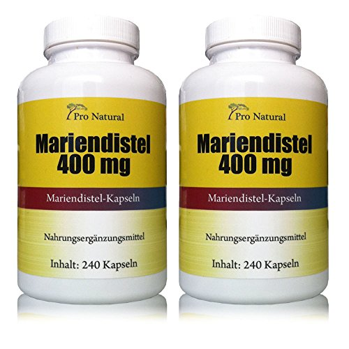 Mariendistel Extrakt 400mg (Pro Kapsel 80%...