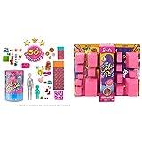 Barbie Color Reveal Caja Deluxe Fiesta De Pijamas Muñecas Y Accesorios Divertidos + Color Reveal De La Playa A La Fiesta, Muñeca Que Revela Sus Colores con Agua, Incluye Ropa Y Accesorios