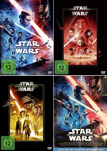 Star Wars 7 + 8 + 9 (Das Erwachen der Macht + Die letzten Jedi + Der Aufstieg Skywalkers) plus ein Poster Der Aufstieg Skywalkers [3er DVD-Set]
