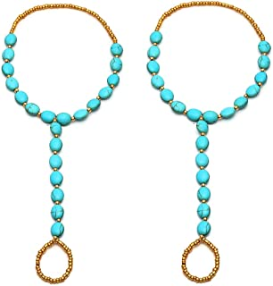 crochet stone jewelry