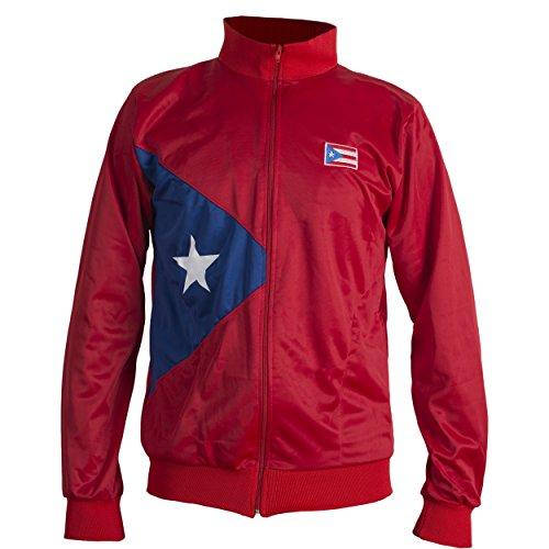 JL Sport Red Puerto Rico Nationalflagge Karibik Jacke Anzug ? - M