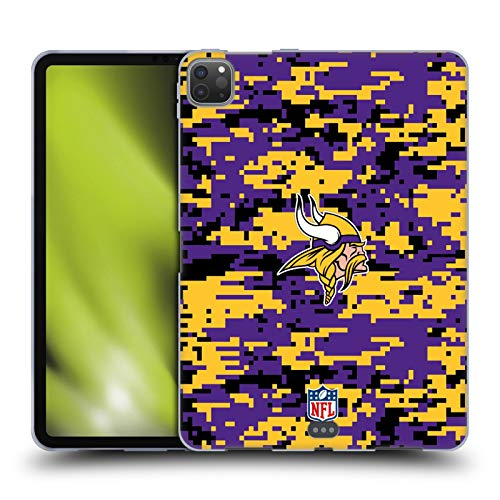 Head Case Designs Officially Licensed NFL Digital Camouflage 2018/19 Minnesota Vikings Soft Gel Case Compatible with Apple iPad Pro 11 (2020)