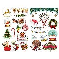 クリスマスツリー装飾ステッカーフレークシール手帳サンキューシールラベル ステッカー日記帳雑貨シール