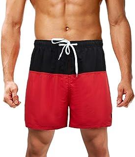 LK LEKUNI Swim Shorts Mens Swimming Trunks Beach Surf Quick Dry Adjustable Drawstring