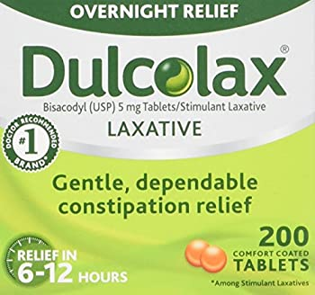 Dulcolax Laxative - 5 mg - 200 Comfort Coated Tablets