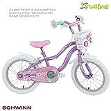 "Schwinn Girls' Jasmine Kids Bike, Purple, 16"" (Age 4+)"