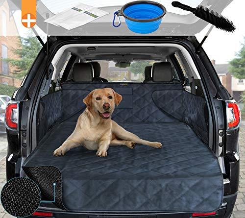 smartpeas Kofferraumdecke für Hunde XXL – Kofferraumschutz für jedes Auto – Anti-Rutschbeschichtung – Robuste, Gesteppte Hundedecke mit Seitenschutz 185 * 105 * 36 cm