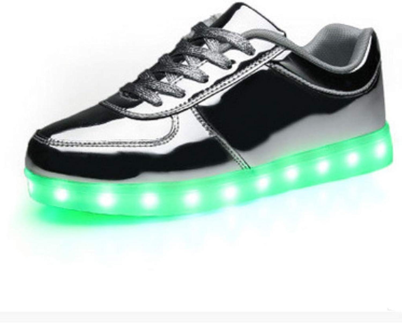 USB Charging Lighting shoes Sports LED shoes Dance shoes Men and Women Couples (color   B, Size   44EU)