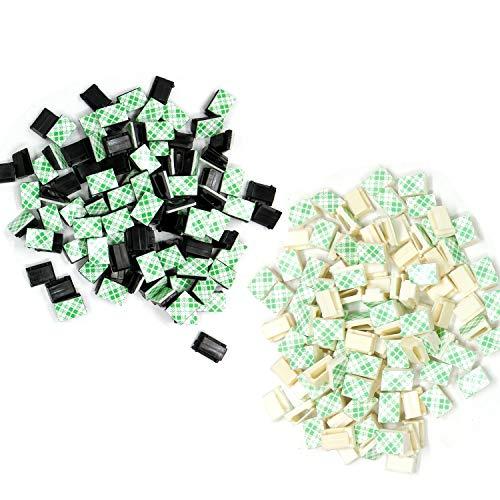 Preisvergleich Produktbild TANGGER Selbstklebende Kabelklemmen Drahtklammern Clips Draht Schnur Halter(200 Stück)