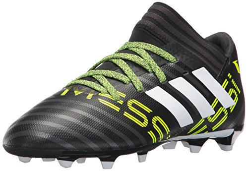 adidas Kids' Nemeziz Messi 17.3 Fg J Soccer-Shoes, BLACK/WHITE/SOLAR YELLOW, 4 Big Kid