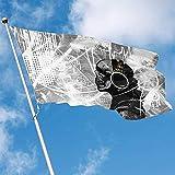 wallxxj Yard-Flagge Fahnen-Musik-Schädel-Mann-Polyester-Dekorative Flaggen-Flaggen-Innenfahnen Im Freien 150X90Cm Garten-Flagge