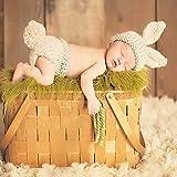 Everpert Accesorios para fotografía de bebé recién nacido Niñas Niños Crochet Knit Conejo Cola Foto Fotografía (0-2M)