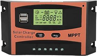 Sanon Automatische batterij-controller, LCD-display, zonne-laadregelaar, regelaar voor zonnepaneel, 12 V/24 V, Mppt (50 A)