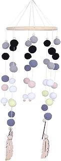 Berceau Mobile nouveau-né lit cloche hochet jouets Hairball carillons éoliens accessoires de photographie jouet suspendu o...