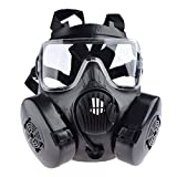 iVansa Masque à Gaz Airsoft, Dummy Anti Fog Gas Face Mask M50 avec Ventilateur...