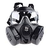 iVansa Masque à Gaz Airsoft, Dummy Anti Fog Gas Face Mask M50 avec Ventilateur Paintball Masque pour Nerf CS Fête...