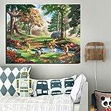 KWzEQ Oso Lienzo Pintura Sala de Estar decoración del hogar Moderno Arte de la Pared Pintura al óleo Imagen del Cartel,Pintura sin Marco,70x90cm