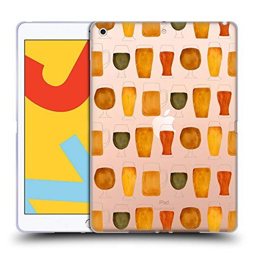 Officiële Cat Coquillette Bier Gemengde ontwerpen Soft Gel Case Compatibel voor Apple iPad 10.2 (2019)